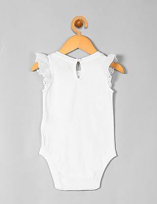 GAP Baby Eyelet Sleeve Bodysuit