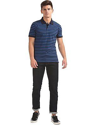 Gant Feeder Stripe Pique Short Sleeve Rugger Polo