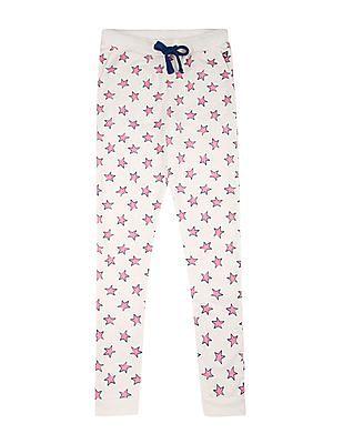 U.S. Polo Assn. Kids Girls Star Print Knitted Joggers
