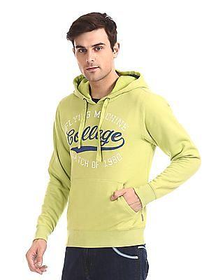 Flying Machine Kangaroo Pocket Hooded Sweatshirt