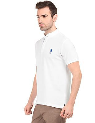 U.S. Polo Assn. Mandarin Collar Slim Fit Polo Shirt