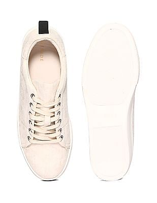 Stride Gold Textured Platform Sneakers