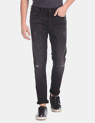 GAP Black Skinny Fit Mid Rise Jeans