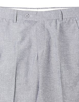 Arrow Patterned Flat Front Trouser