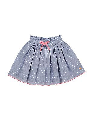 U.S. Polo Assn. Kids Girls Dobby Flared Skirt