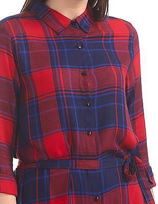 Cherokee Checked Shirt Dress