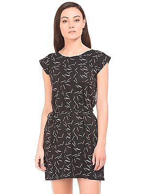 SUGR Printed Belted T-Shirt Dress