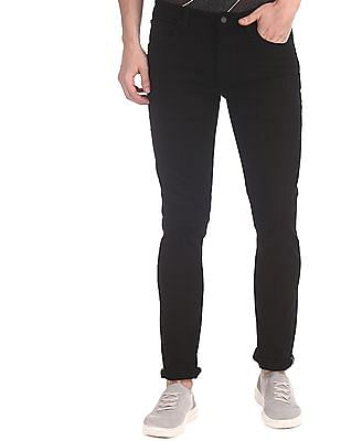 Arrow Sports Black Slim Fit Dark Wash Jeans