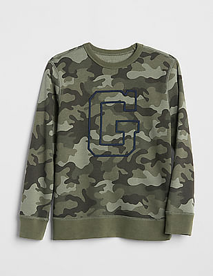 GAP Boys Logo Graphic Pullover Sweater