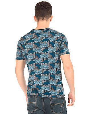 Cherokee Round Neck Printed T-Shirt