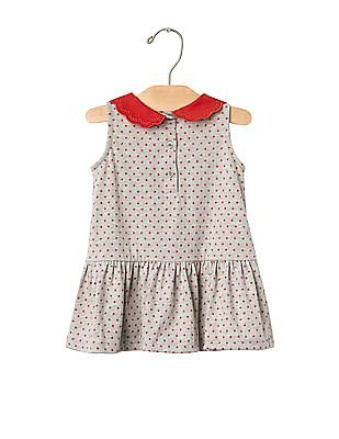 GAP Baby Grey Scallop Collar Dress
