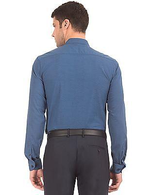 Arrow Newyork Mandarin Collar Patterned Shirt