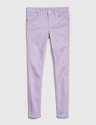 GAP Purple Girls Super Skinny Jeans With Fantastiflex