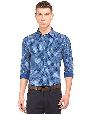 U.S. Polo Assn. Printed Regular Fit Shirt