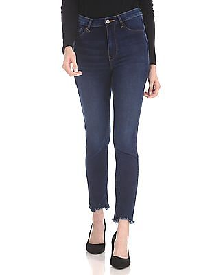 Flying Machine Women High Waist Washed Jeggings