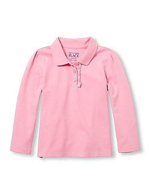 The Children's Place Baby Long Sleeve Polo Shirt