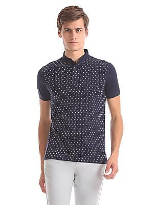 Arrow Sports Regular Fit Printed Henley T-Shirt