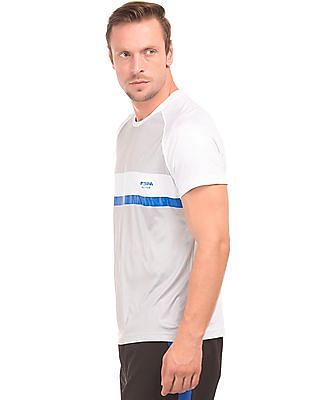 USPA Active Colour Blocked Raglan Sleeve Active T-Shirt