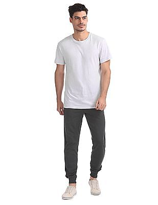 Flying Machine Contrast Seam Heathered Joggers