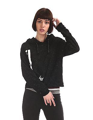 SUGR Black Hooded Active Sweatshirt