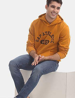 GAP Yellow Athletic Logo Pullover Hoodie