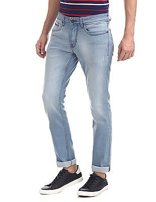 Cherokee Blue Slim Fit Faded Jeans