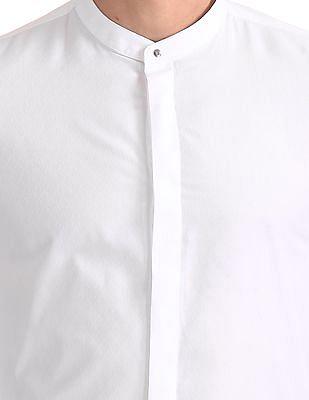 Arrow Newyork Slim Fit Mandarin Collar Shirt