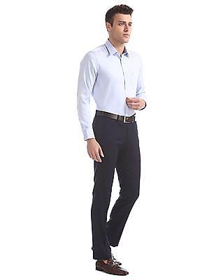 USPA Tailored Regular Fit Patterned Paisley Shirt
