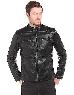 U.S. Polo Assn. Denim Co. Regular Fit Textured Biker Jacket
