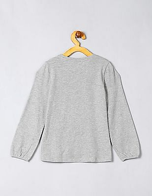 GAP Baby Grey Embroidered Graphic Tee