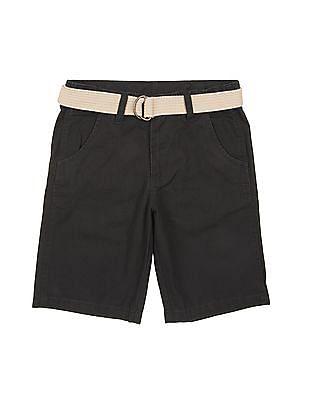 Cherokee Boys Adjustable Waist Belted Shorts