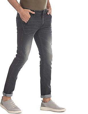 Flying Machine Grey Jackson Skinny Fit Stone Wash Jeans
