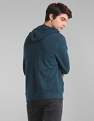 GAP Blue Logo Applique Hooded Sweatshirt