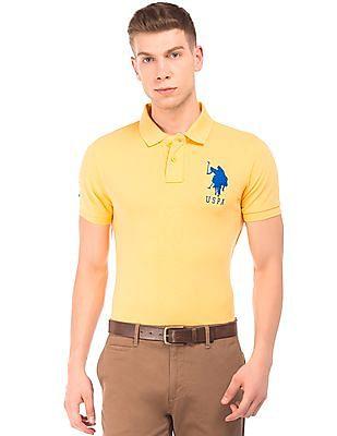 U.S. Polo Assn. Brand Embroidered Pique Polo Shirt