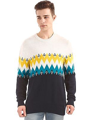 Aeropostale Patterned Knit Regular Fit Sweater