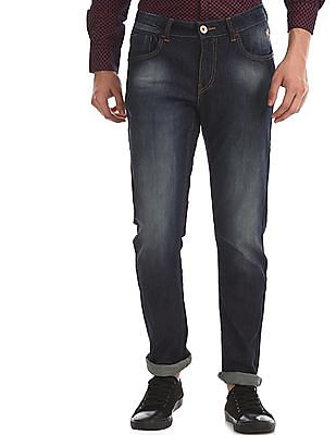 Flying Machine Blue Michael Slim Tapered Mid Rise Jeans