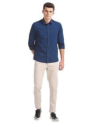 Arrow Sports Striped Slim Fit Shirt