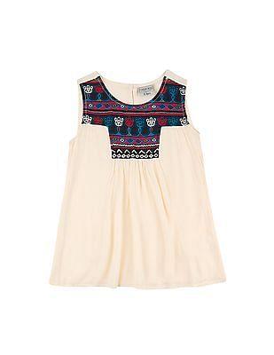 Cherokee Girls Contrast Print Crinkled Tunic