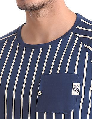 Cherokee Patch Pocket Striped T-Shirt