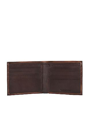 Flying Machine Textured Leather Bi-Fold Wallet