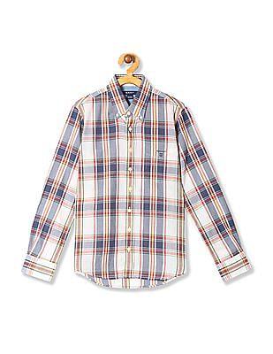Gant Boys Ocean Fresh Madras Check Shirt