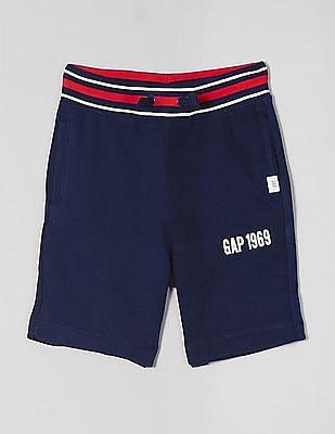 GAP Blue Boys Logo Pull-On Shorts