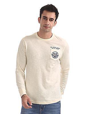 U.S. Polo Assn. Denim Co. Chest Pocket Long Sleeve T-Shirt