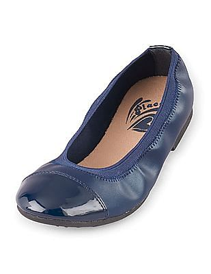 The Children's Place Girls Cap Toe Kayla Belly Shoes