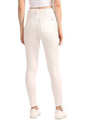 Flying Machine Women High Rise Stretch Jeggings