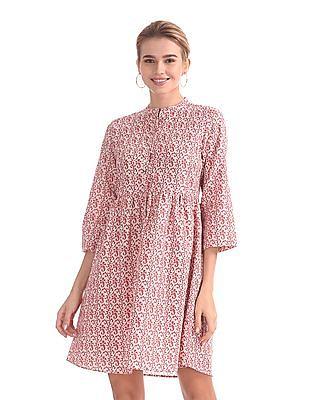 U.S. Polo Assn. Women Floral Print Linen Dress