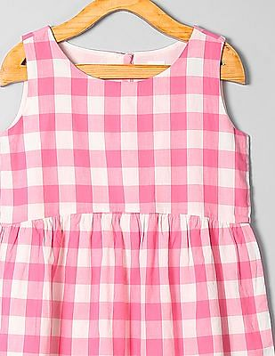 GAP Girls Check Fit And Flare Dress