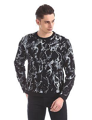 Ed Hardy Slim Fit Printed Sweatshirt