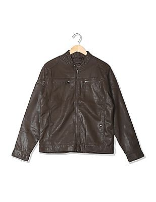 Flying Machine Mens Stand Collar Jacket