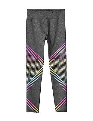 GAP Girls Gap Fit Kids Ombre Dots And Stripes Sport Leggings